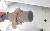 Usa una media para que la aspiradora no absorba objetos pequeños