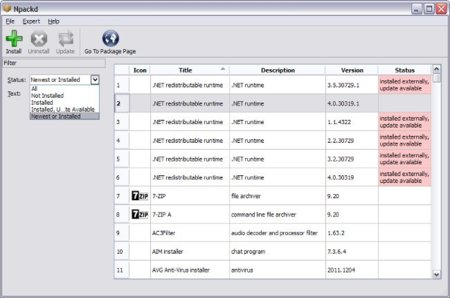 Npackd, un gestor de aplicaciones para Windows al estilo Synaptic de GNU/Linux (II)