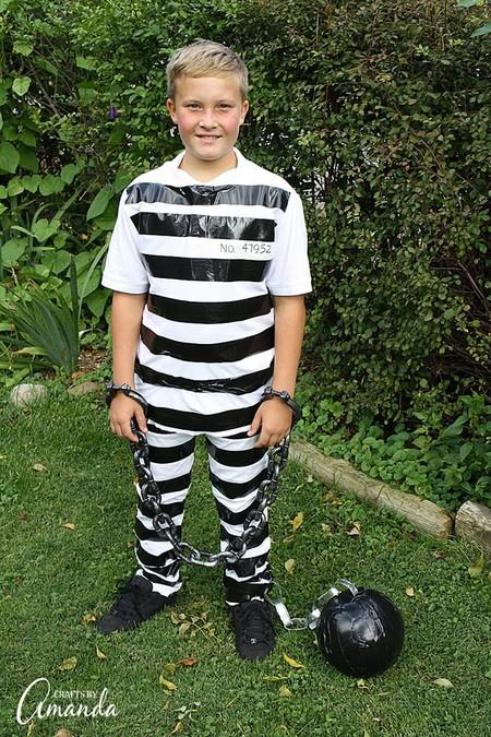 Disfraces Facil Barato Ninos Prisionero Reo
