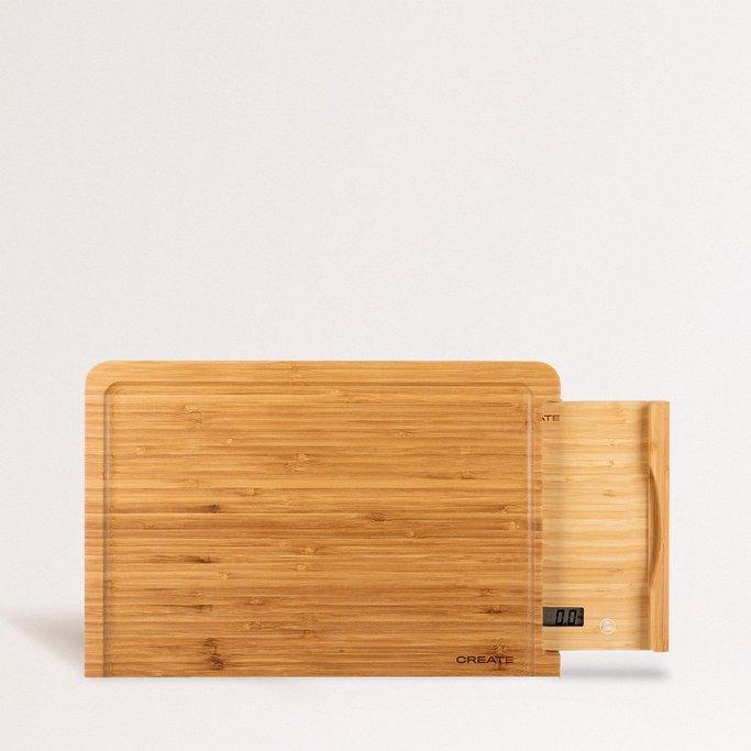 BOARD SCALE BAMBOO - Tabla corte de cocina con báscula integrada