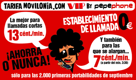 La tarifa Pepephone by Movilonia mejora sus condiciones para llamadas largas