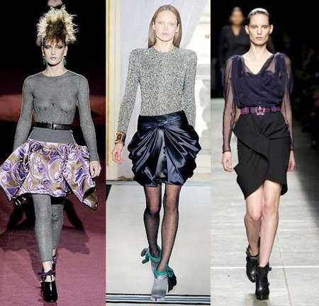 Tendencias de invierno: faldas plisadas y con volantes.