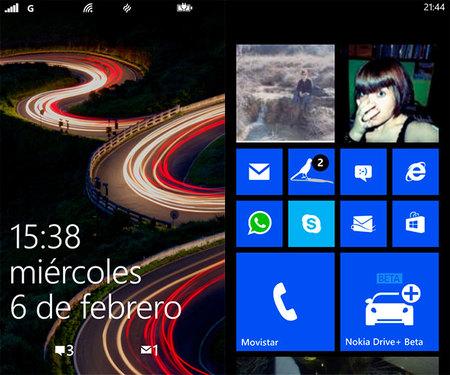 Nokia Lumia 620, menú de inicio