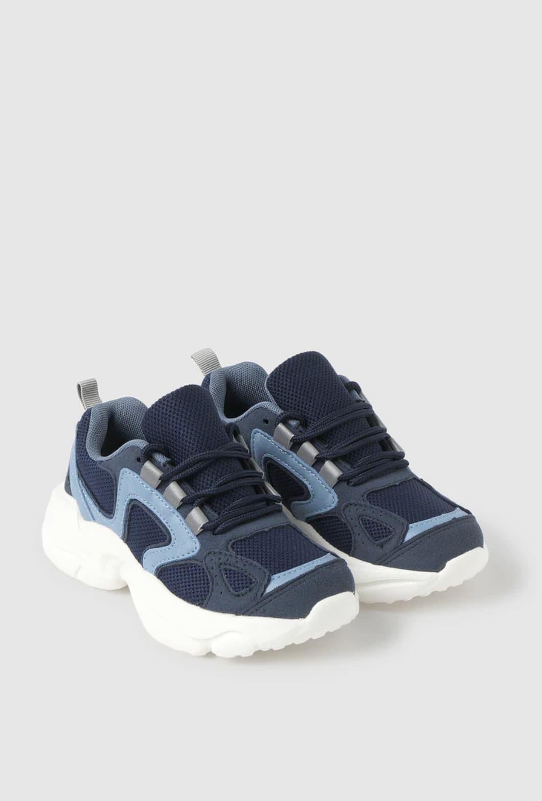 Zapatillas deportivas de niño Kids Collection de color azul marino con cierre de cordones