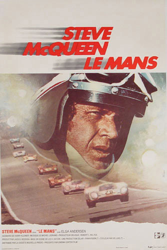 Le Mans - Stve McQueen movie Poster 1971