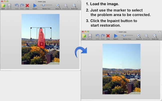 Aplicaciones gratuitas Mac App Store Inpaint