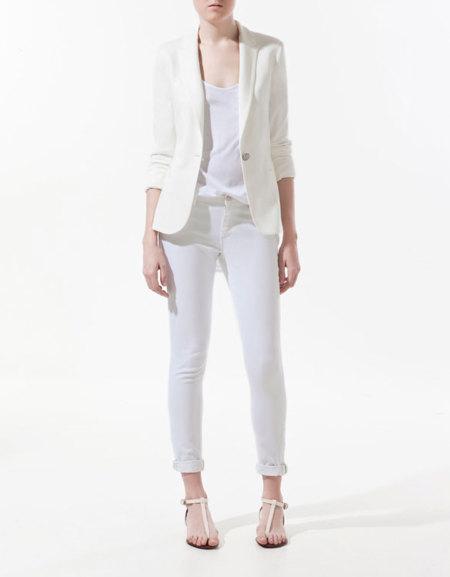Blazer blanco Zara
