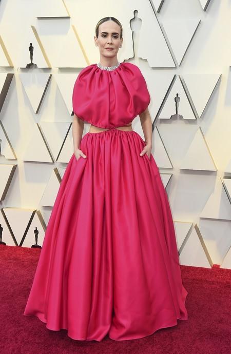 rosa alfombra roja oscars 2019