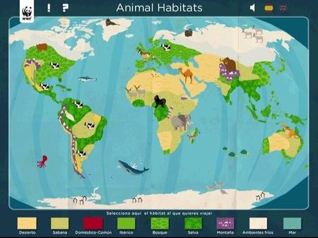 Animal Habitats para el iPad enseña a los peques los animales de todo el mundo