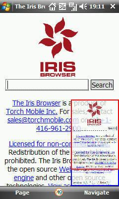 Iris beta 2, basado en WebKit