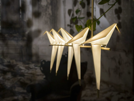 Origami Bird Lights Creative Lamps Family Umut Yamac 9