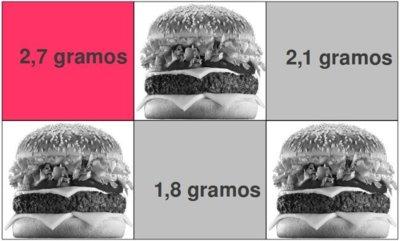 Solución a la adivinanza: una hamburguesa tiene 2,7 gramos de sal