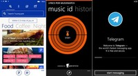 Foursquare, musiXmatch y Telegram también se actualizan en Windows Phone