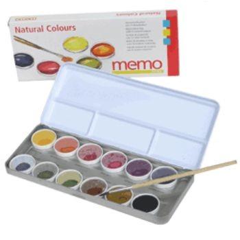 Acuarelas con pigmentos naturales
