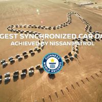 Nissan Armada rompe otro récord Guinness, ahora con un divertido baile sincronizado