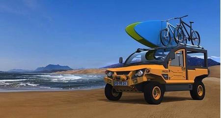 UniquEco eFROOG, jeep plástico eléctrico multipropósito