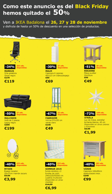 Ofertas Black Friday Ikea Badalona