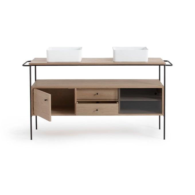Mueble de baño Nyjo, roble, L150 cm