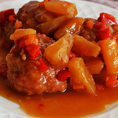 Albóndigas de pollo estilo teriyaki. Receta
