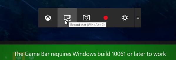 Xbox App Game Bar