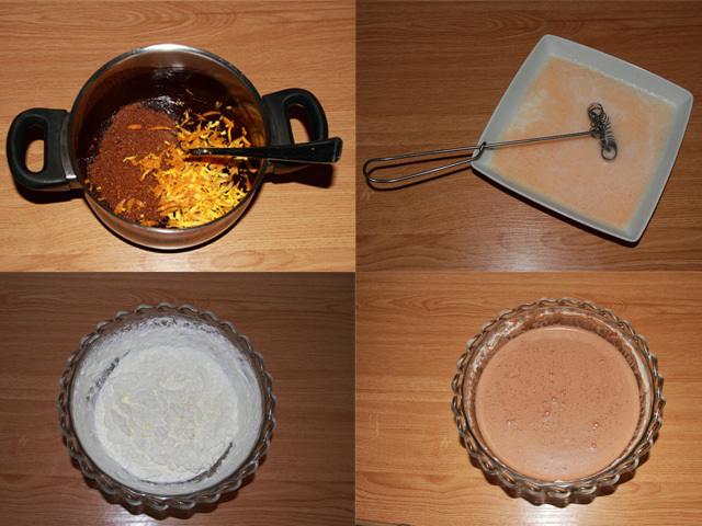 Paso a paso helado sin lactosa de chocolate con aroma de naranja