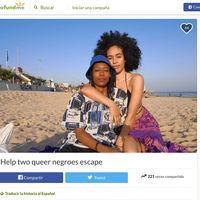 """""""Help two queer negroes escape"""": el GoFundMe de una pareja para mudarse a Berlín y el derecho a pedir"""