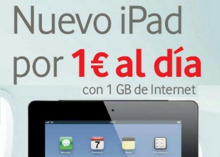 Nueva tarifa de 1 GB por 10 euros de Vodafone exclusiva para tablets y iPad por 1 euro al día