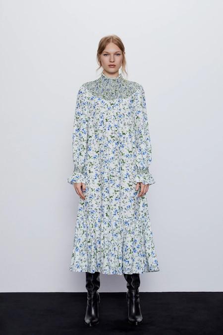 Vestidos Rebajas 2020 Zara Tobillera Estampado 01