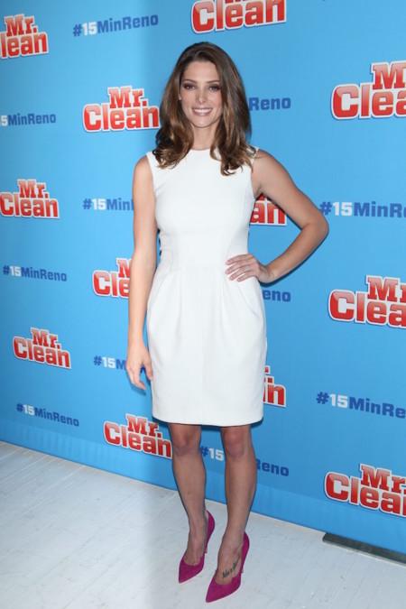 Ashley Greene Vestido Blanco