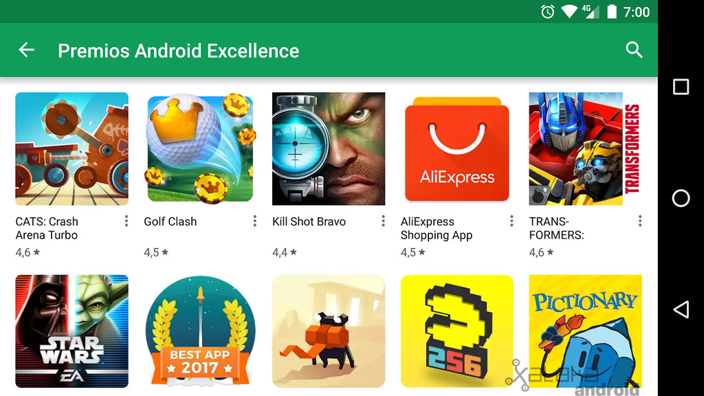 Premios Android™ Excellence