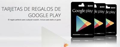 Las tarjetas de regalos de Google Play disponibles ya en México