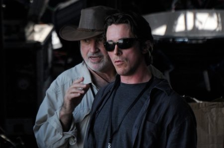 Terrence Malick y Christian Bale
