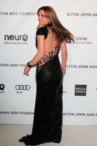 Britney Spears estrena look en la fiesta de Elton John tras los Oscars 2013