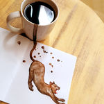 Gatos de café: una ilustradora rusa reimagina diferentes cafés como si de gatos se tratase