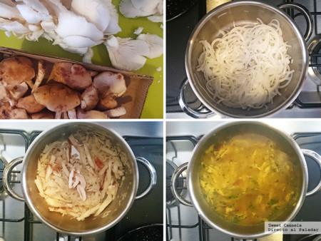 Sopa De Hongos Con Curcuma 1