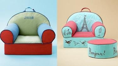 Coloridos sillones infantiles personalizados