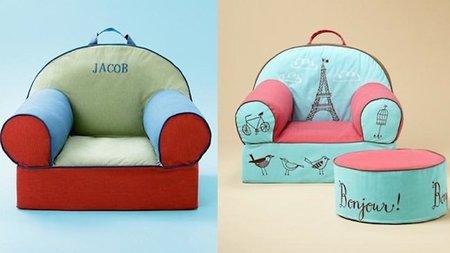 Coloridos sillones infantiles personalizados - Sillones habitacion bebe ...