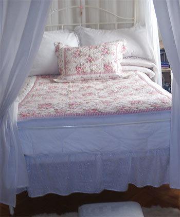 El dormitorio de Silvia en Buenos Aires.