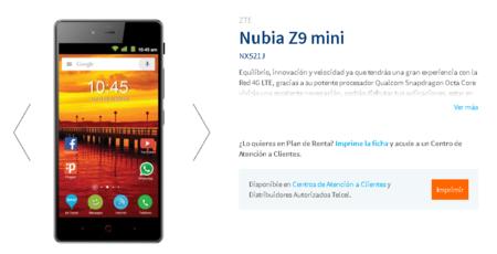 Zte Nubia Z9 Mini Telcel Mexico
