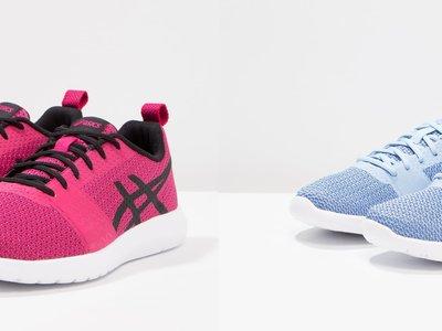 50% de descuento en Zalando en las zapatillas Asics Kanmei en fucsia y en azul: ahora cuestan 29,95 euros