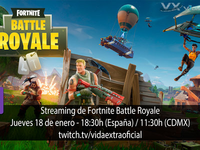 Streaming con las novedades de Fortnite Battle Royale a las 18:30h (las 11:30h en CDMX)