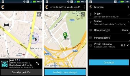 Cabify aplicación móvil