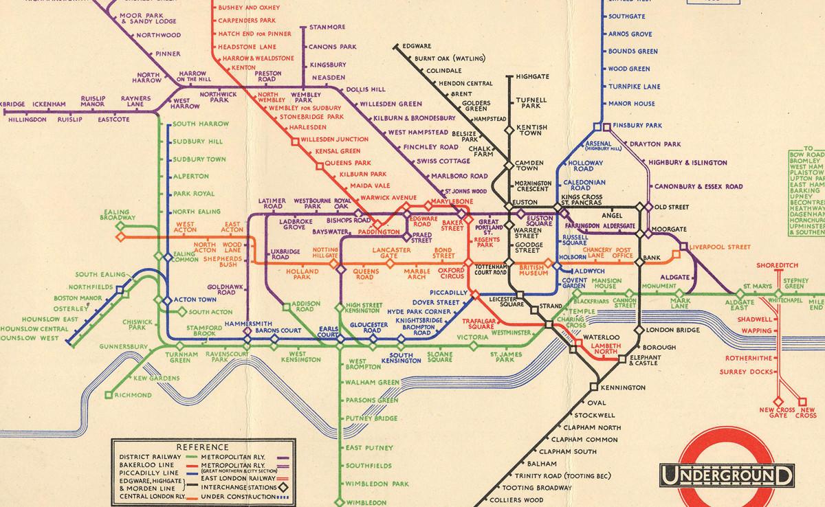 El Mapa Del Metro De Londres De 1933 Que Revoluciono Para Siempre