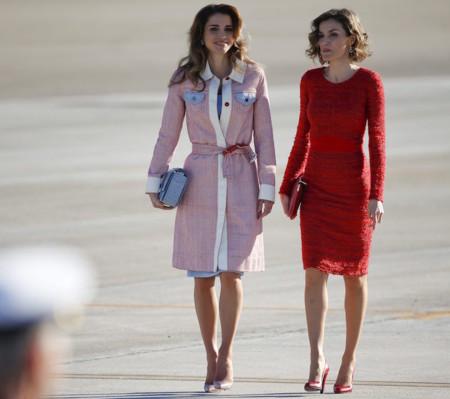 Doña Letizia y Rania de Jordania