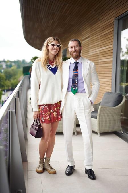 Veronika Heilbrunner Justin O Shea Stars In Wimbledon Style Trendencias Hombre