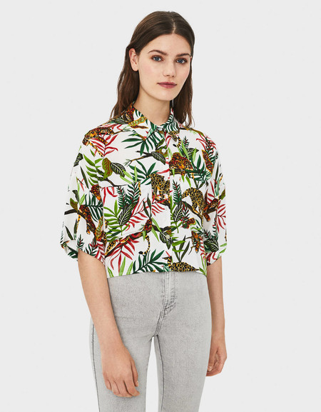 camisa tropical berska