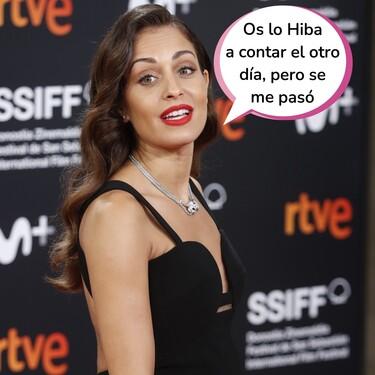 Hiba Abouk confirma su segundo embarazo con este vestidazo de infarto en la alfombra roja del Festival de Cine de San Sebastián