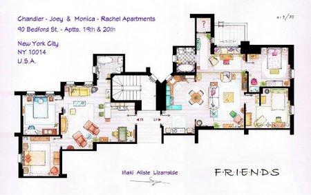 El plano de los apartamentos de 'Friends' y 'Frasier', la imagen de la semana