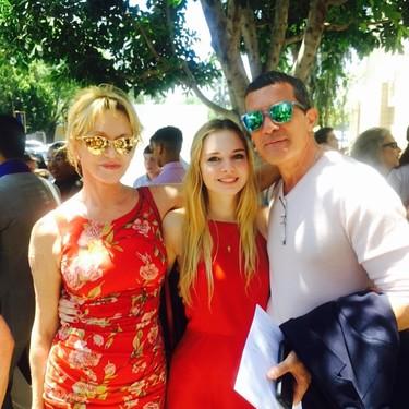 Antonio Banderas y Melanie Griffith juntos por su Stella del Carmen