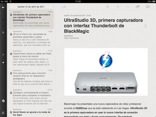 Foto de Lectores RSS para el iPad (17/20)